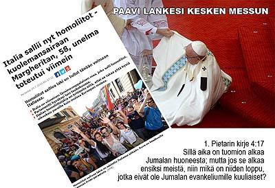 Paavi lankesi