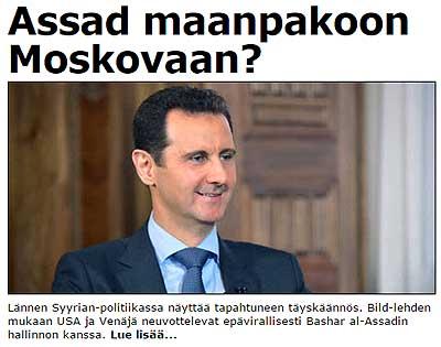 al-Assad maanpakoon