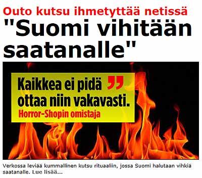 Suomi vihitään saatanalle