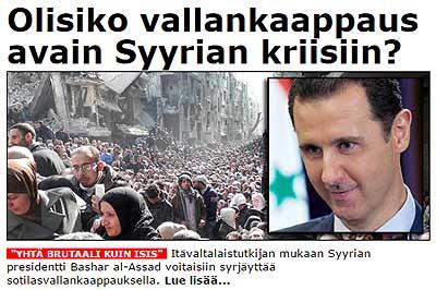Assad syrjäytetään